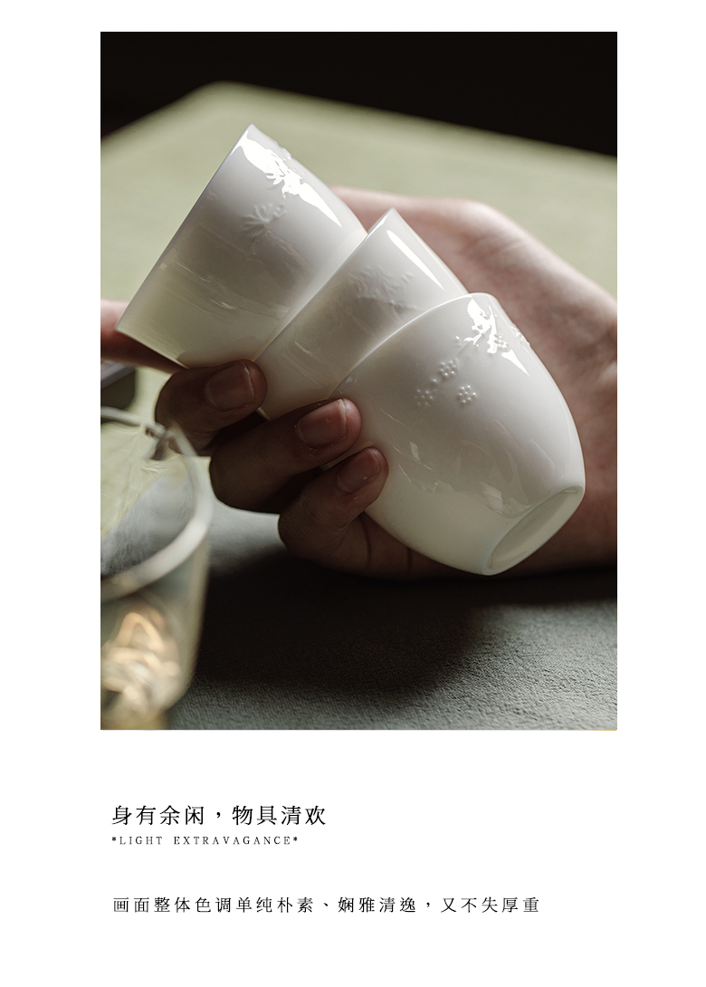 """The Self - """"appropriate content suet jade sample tea cup ceramic cups cup thin foetus kung fu masters cup manually restoring ancient ways but small tea cups"""