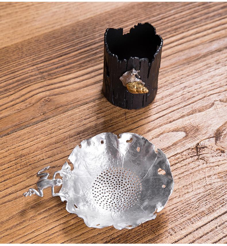 Treasure minister 's tin) filter creative tea filter good Japanese character manual tea accessories kung fu tea