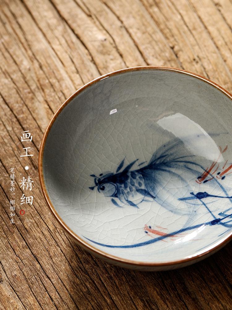 Jingdezhen porcelain clay master cup single pure manual retro pu - erh tea cup hand - made sample tea cup cup kunfu tea