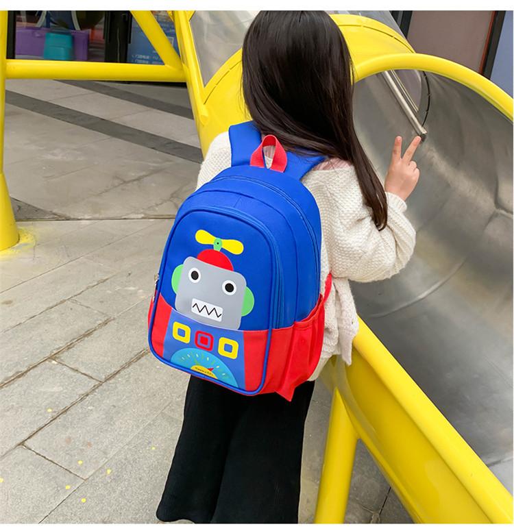 儿童书包幼儿园女童卡通恐龙学生潮旅行男童岁小中大班揹包详细照片