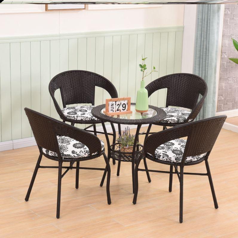 Sân thượng ngoài trời bàn trong nhà giải trí ghế ban công giải trí ghế sau ghế vườn nội thất một bàn 2 ghế kết hợp - Bàn ghế ngoài trời / sân