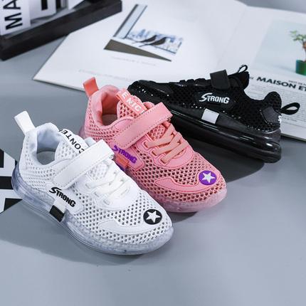 乔格熊男童鞋儿童鞋子2019新款春季中大童小孩网鞋透气女孩运动鞋