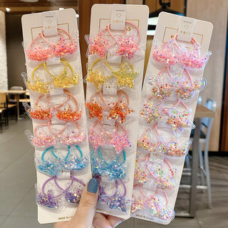 Quicksand small rubber band crown hair rope baby does not hurt hair head rope children's rubber band hair tie hairpin girls hair accessories summer