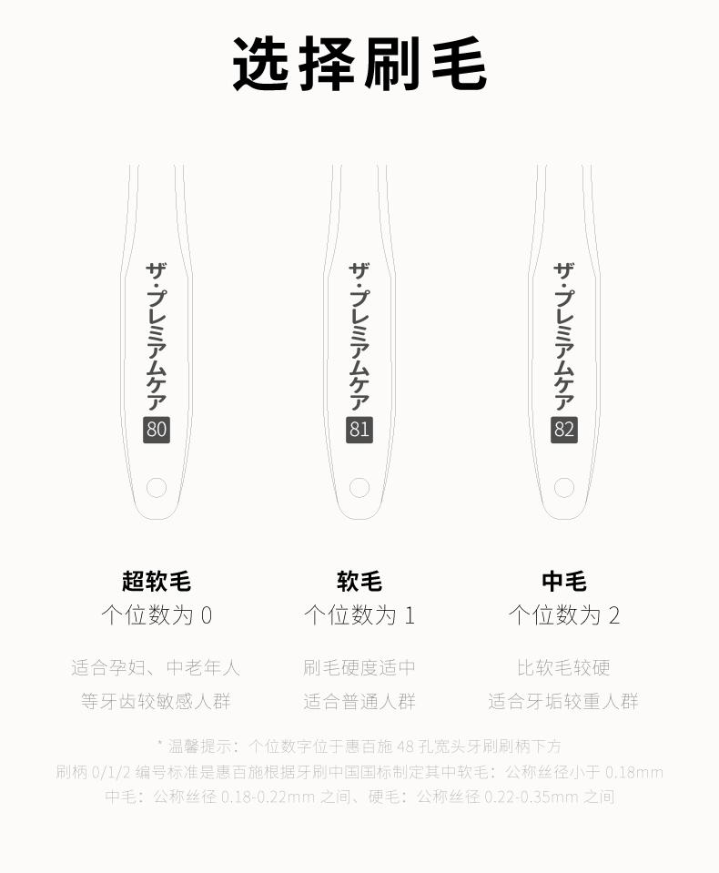 网评最好用 日本 惠百施 48孔6列超软毛 棉花口感大头牙刷 4支装 图9