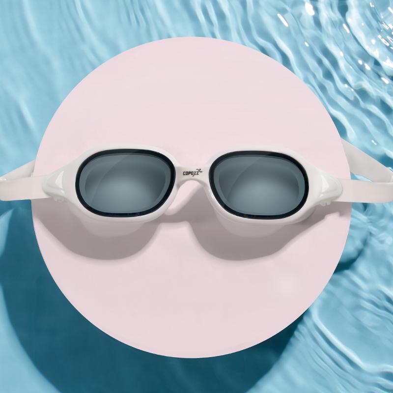泳镜女防水防雾高清女士大框近视游泳镜潜水眼镜泳帽套装男装备