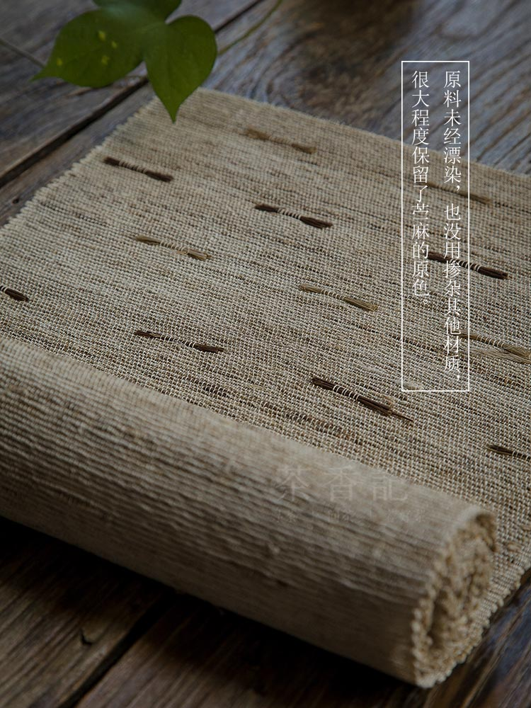 Pure manual than grass cloth ramie tea table ecru overall traditional hand - made by tea table cloth