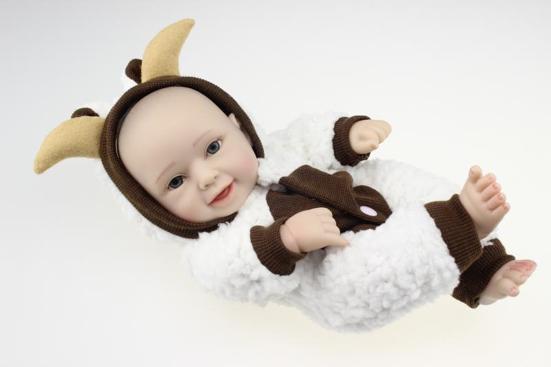 "11"" cute reborn full body silicone doll Birthday gift"