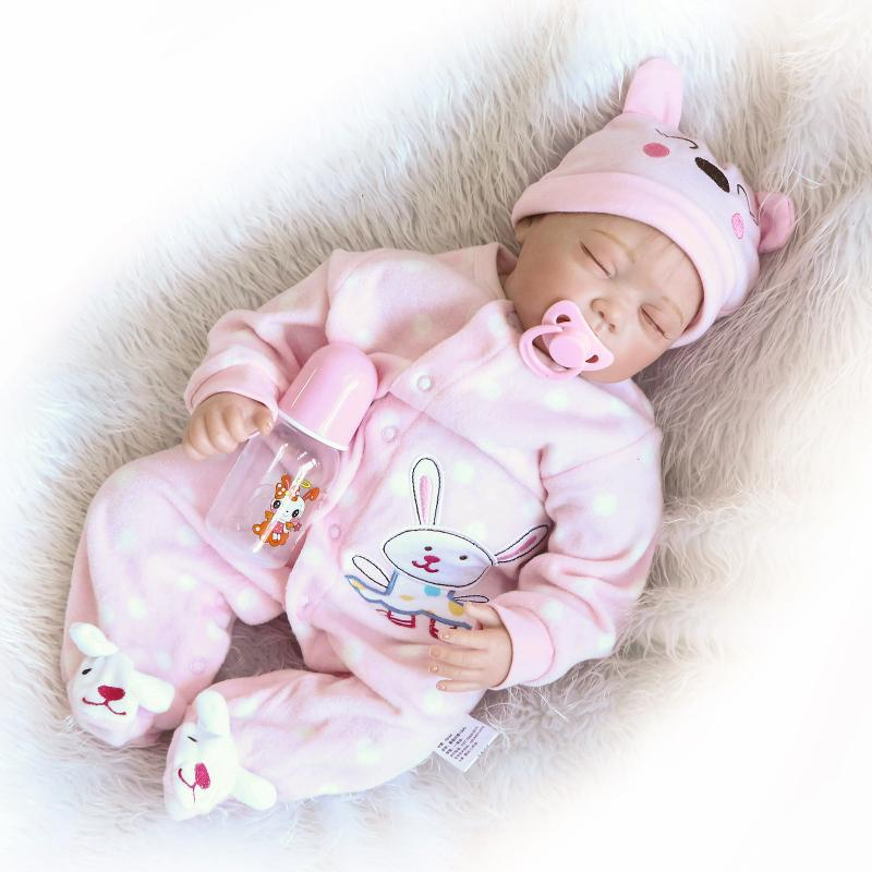 "REBORN DOLLS REAL LIFELIKE BABY GIRL 22/"" SOFT SILICONE VINYL WEIGHTED BODY"