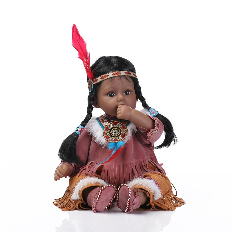 20 Quot Handmade Lifelike Indian Baby Girl Silicone Vinyl