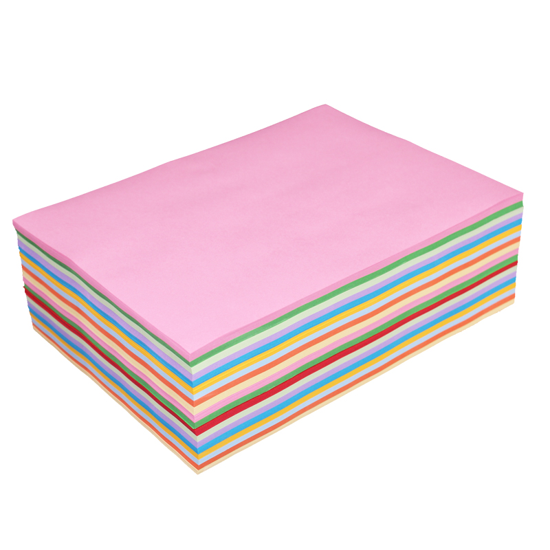 Color A4 paper 70 g color paper kindergarten pink print copy paper a4 red  student children's origami paper-cut mixed color 500 sheets of color a4