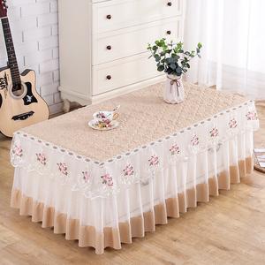 茶几桌布套罩全包蕾丝长方形家用