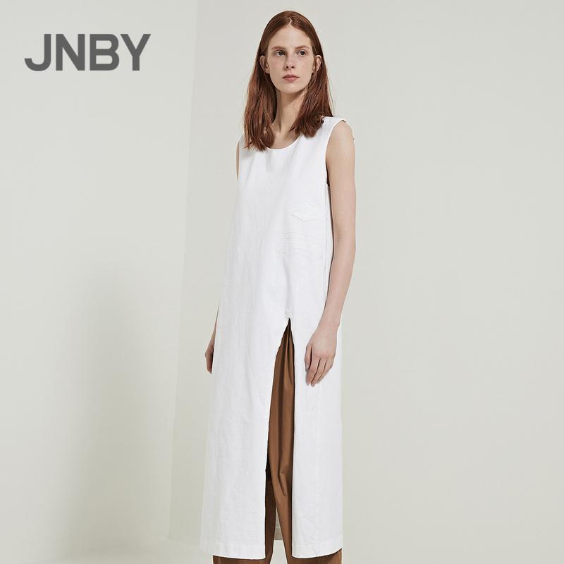 JNBY Giang Nam thường dân 2018 mùa hè mới vòng cổ không tay lỏng lẻo in váy nữ 5H350105