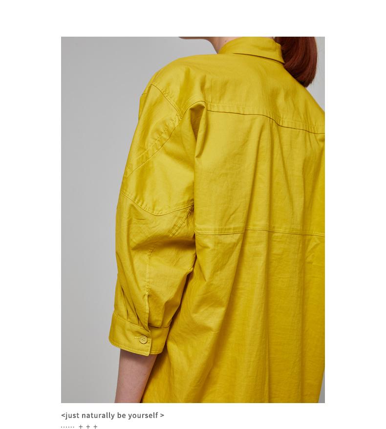 [Trung tâm mua sắm với đoạn] JNBY Giang Nam thường 2018 mùa hè mới bên cổ áo dài ăn mặc nữ 5I4500420