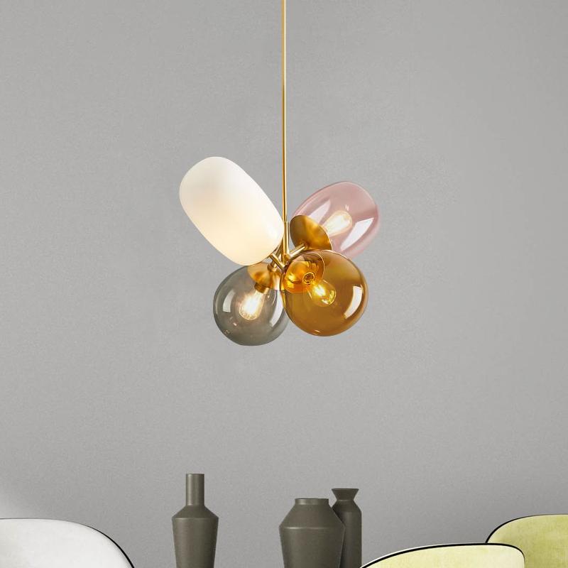 北欧后现代简约气球玻璃吊灯 创意时尚玄关客厅餐厅卧室装饰吊灯