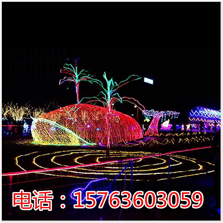 灯光造型led灯展灯展造型梦幻灯光节布置场景公园展览开幕式展览