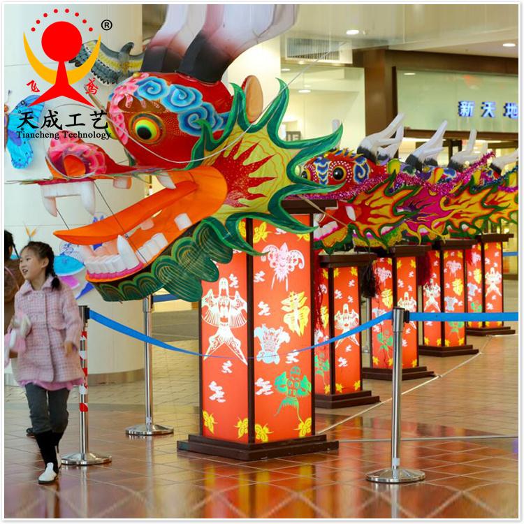 潍坊龙头蜈蚣风筝商场装饰风筝中国特色大型装饰风筝纯手工可定制