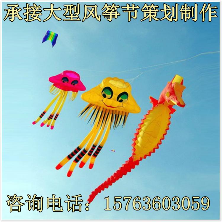 大型软体风筝专业定制大型风筝放飞室外防雨软体风筝放飞布展