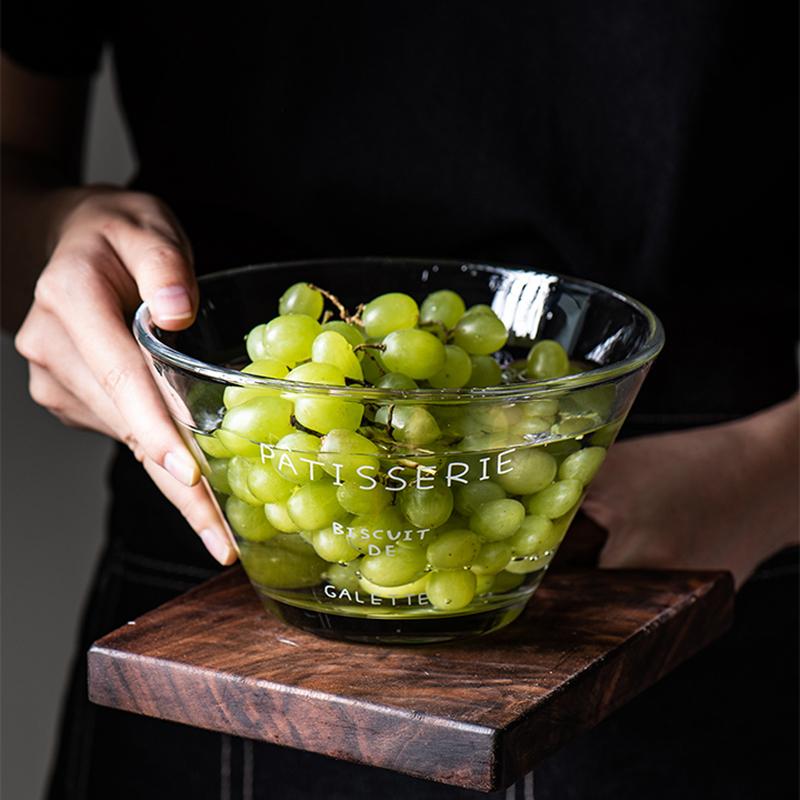 【唐尊】ins简约法文玻璃沙拉碗