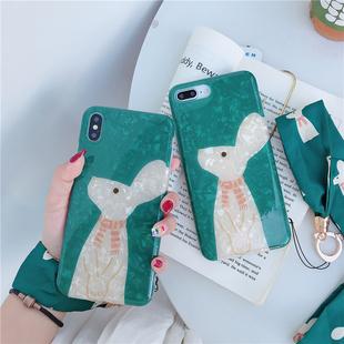 江疏影同款兔子蘋果全系列硅膠手機殼