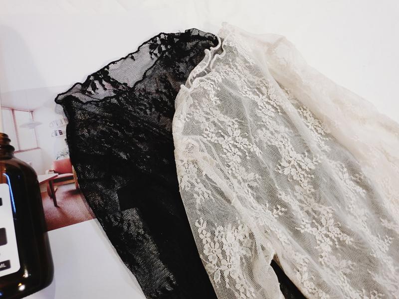 Гонконг лян маленькая девочка девочки весна ребенок сексуальный кружево черное белый свитер девушка длинный рукав T футболки рубашка волна