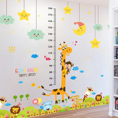 Cartoon children's baby height sticker removable height rod multiplication mouth table wall stickers decorative wallpaper self-adhesive