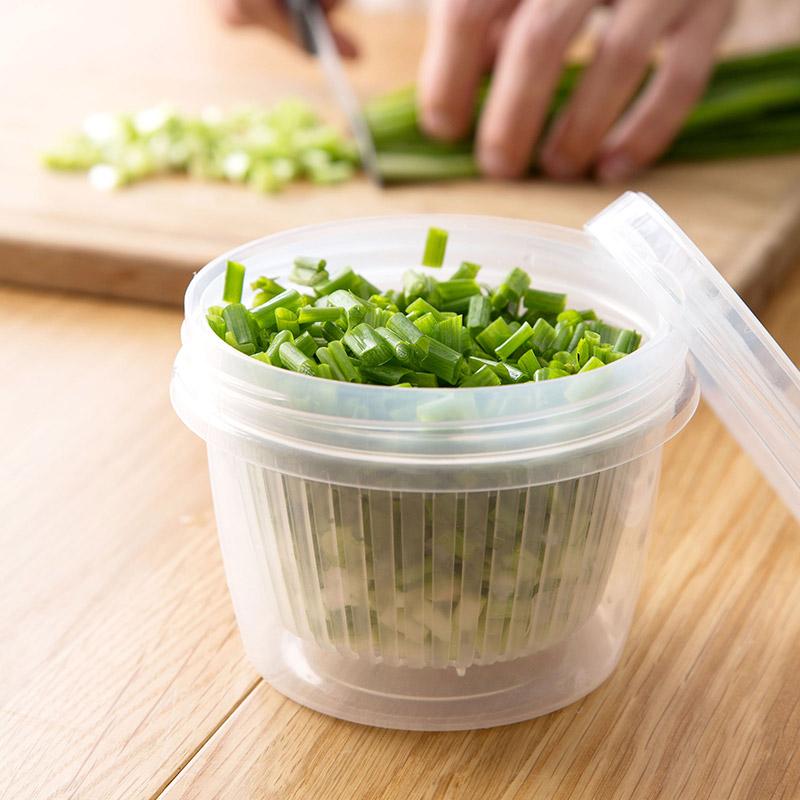 【万家福】日本进口厨房葱花姜蒜保鲜盒-时时淘