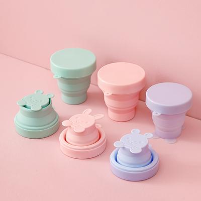 日本旅行硅胶折叠杯子便携式喝水儿童户外出差伸缩可爱水杯漱口杯