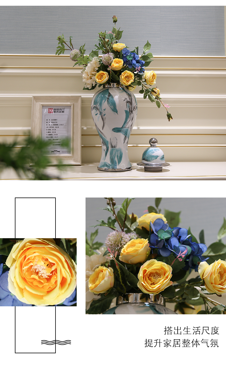 The General light European - style key-2 luxury wind can creative furnishing articles sitting room porch ark of TV ark of tea table and what soft decoration vase