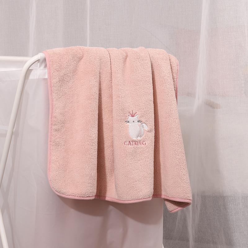 品吉氏浴巾男女情侣家用吸水速干不掉毛成人宝宝柔软可爱裹巾