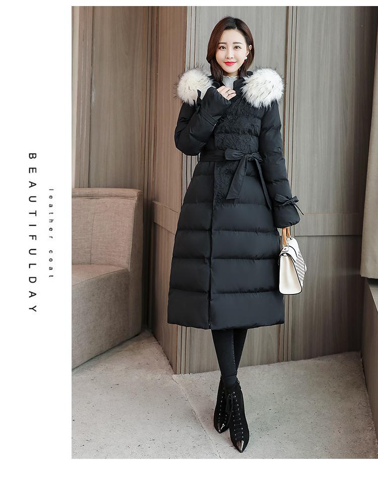 棉衣/棉服女长款加厚保暖时尚简约百搭舒适长袖2018年冬季