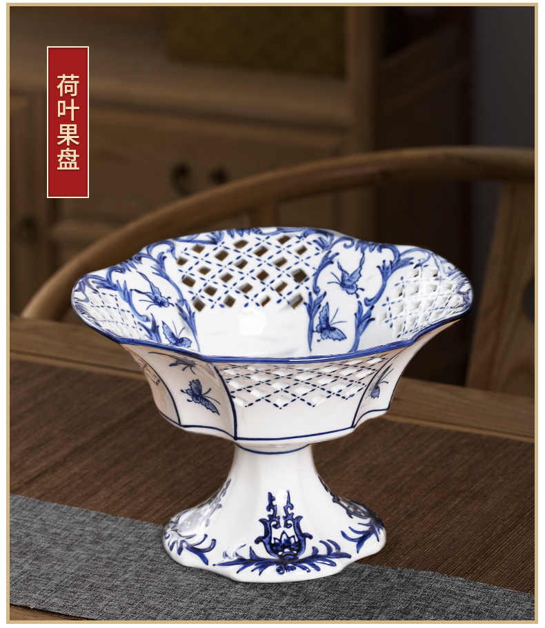 Jingdezhen ceramic tea tray dried fruit best high inventory, the heart of Japanese fruit compote dish tray for Chinese Buddha