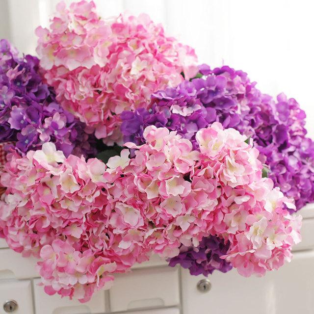 高品质把束路引花家居装饰厚绣球毛布摄影无叶款仿真7头婚庆