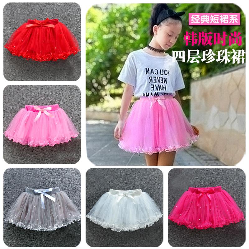 На девочку подол детские Танцевальная юбка весна маленькая девочка половина юбка летнее платье детские Пушистая юбка для маленькой принцессы фата