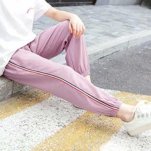 新款大童女孩洋气裤子冰丝灯笼裤