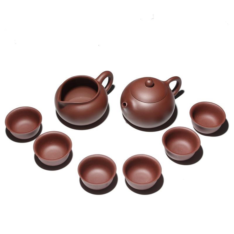 宜兴紫砂壶茶具套装家用6人