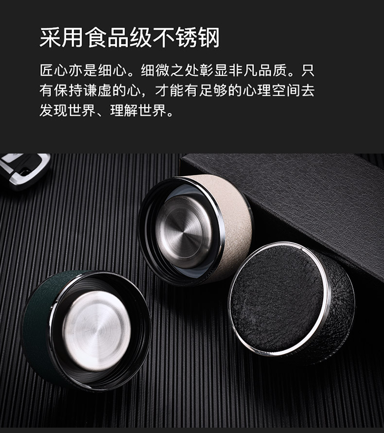 Male shu also double glass cup tea custom heat water separation water cup upset portable filtration crystal