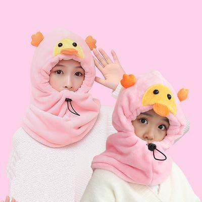 秋冬季成人儿童套头帽卡通防风加厚保暖帽