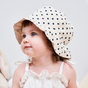 韓國進口嬰兒帽子遮陽帽夏季薄款