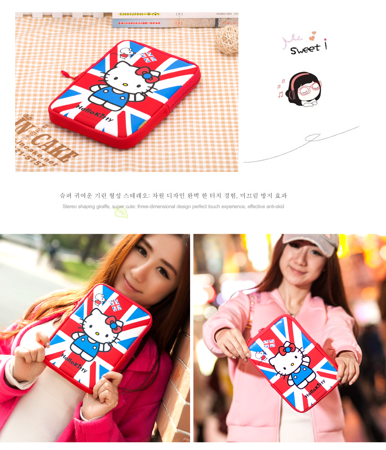 X-Doria Hello Kitty Stand Sleeve Bag for Apple iPad mini 4/3/2/1