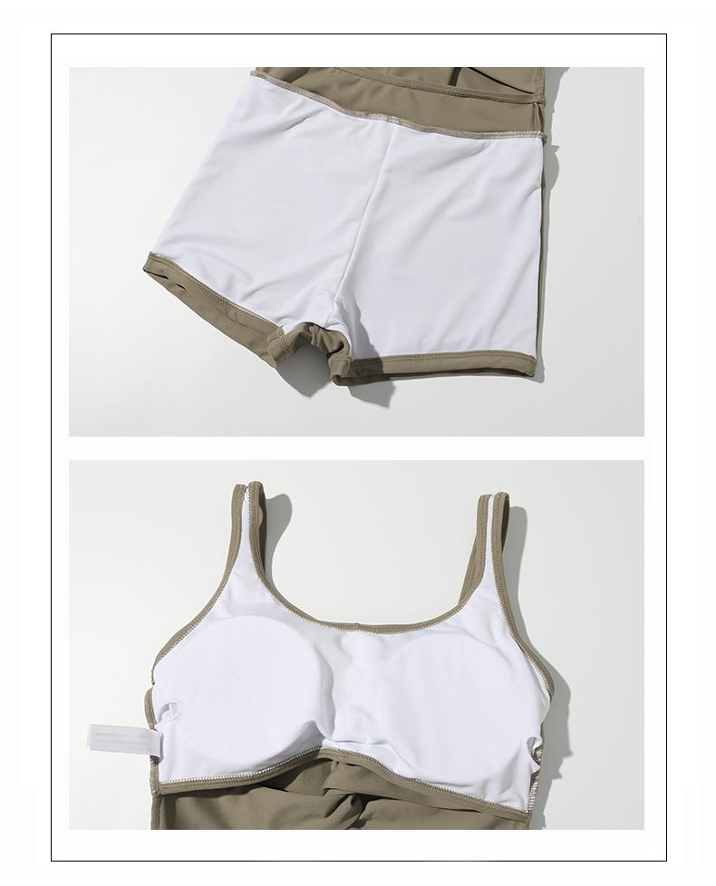 年新款时尚泳衣女夏性感连身裙式显瘦遮肚少女泡温泉泳衣详细照片
