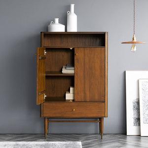 和购家具北欧客厅实木斗柜双门收纳木柜子卧室储物柜原木斗橱组合