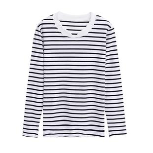 【两件装】女装长袖T恤纯棉打底衫
