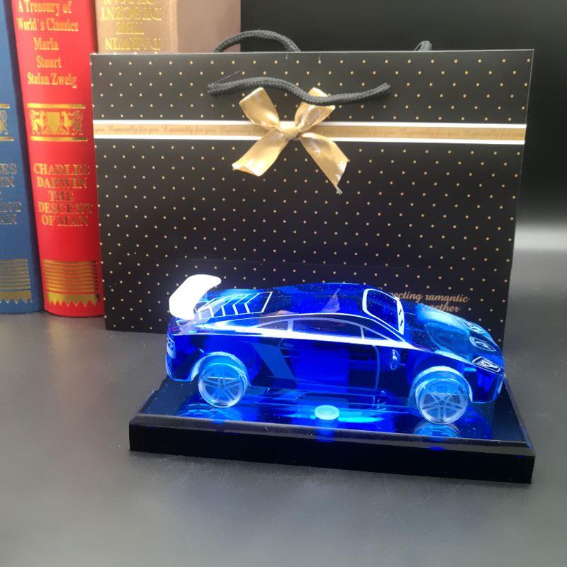 老公汽车模型男友创意生日水晶定制礼物送摆件礼品闺蜜摆件同学包