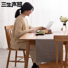 Three raw wood / slow chewing Nordic table solid wood dining table home small apartment white oak cherry wood Japanese furniture