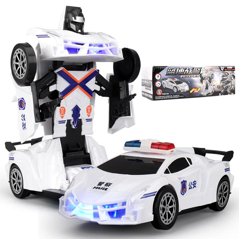 万向6691自动变形感应汽车金刚机器人电动车玩具车男孩3-6岁A