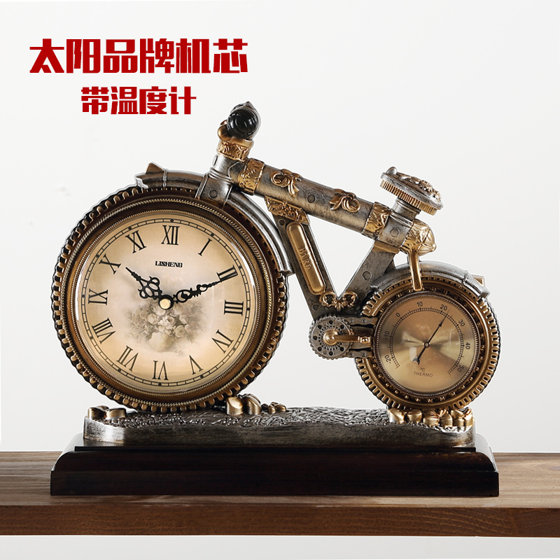 clock creative artists room wall watches personality peacock european product table sided with fashion two living decorative