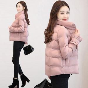 38外套女2019新款冬季短款加厚棉襖修身學生羽絨棉服面包服棉衣潮