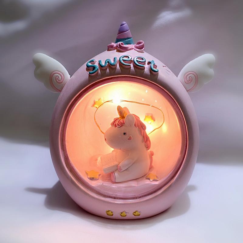 独角兽星星灯网红小夜灯台灯生日快乐卧室房间布置装饰六一儿童节