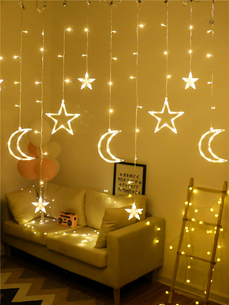 Star lights Home Chinese New Year small lantern flashing light string starry bedroom room New Year decorations Spring Festival decoration