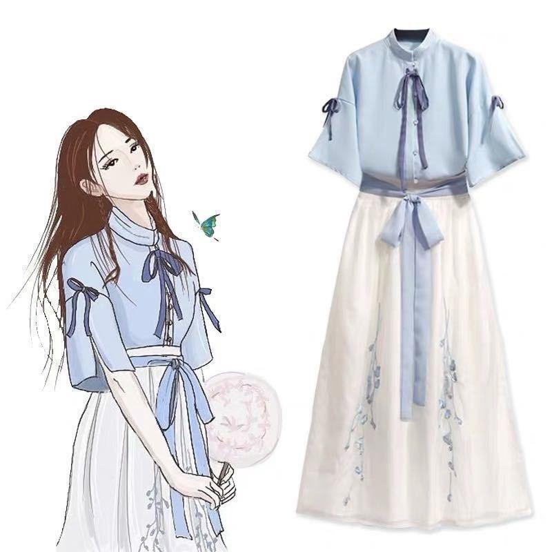 汉服女夏改良中国风汉仙气日常飘逸古风学生元素复古超仙襦裙套装